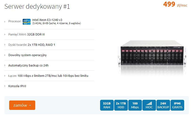 hosting presta serwer dedykowany